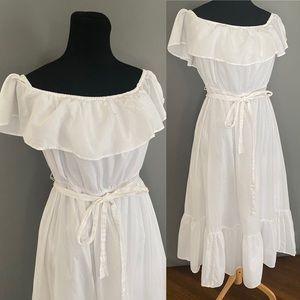 White cotton dress size L